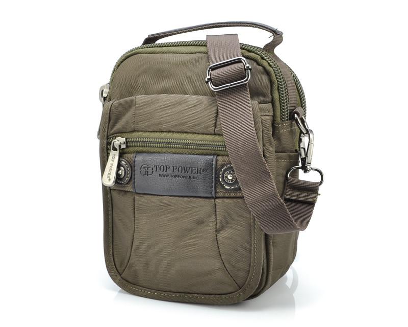 Мужская сумка цвета хаки Top Power 2215-02
