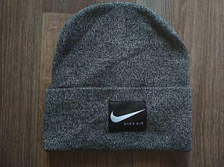 Вязаная шапка светло-серый меланж 555-94