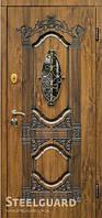 Двери входные металлические Sangria Glass серия RESISTE