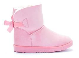 Теплые, розовые женские угги размеры 38,39,41