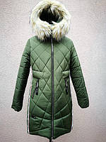 Зимняя серебряная куртка пальто для девочки DK-1114, фото 1