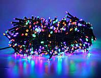 Внутренняя Гирлянда светодиодная нить 16 м, 300 led  черный провод - цвет разноцветный