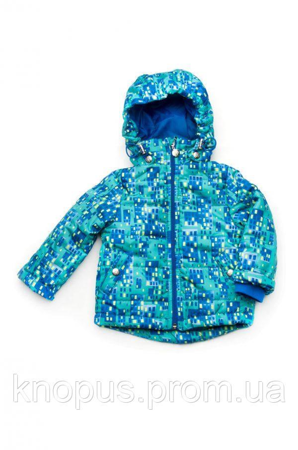 Демисезонная куртка для мальчика, размеры 80-104,  Модный карапуз