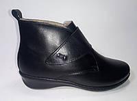 Женские зимние кожаные ботинки на липучке ТМ Inblu Распродажа !, фото 1