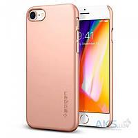 Чехол Spigen для iPhone 8 / 7 Thin Fit, Blush Gold, фото 1