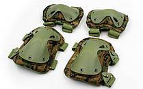 Захист тактичний наколінники, налокотники BC-4703-DW (ABS, поліестер 600D, піксель Marpat)