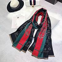 Шикарный теплый палантин шарф в стиле Gucci (Гучи)