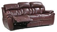 Офисный кожаный трехместный диван Бостон