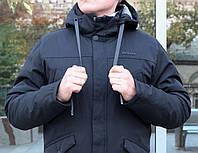 Мужская зимняя черная куртка Remain с капюшоном 44 50 размер