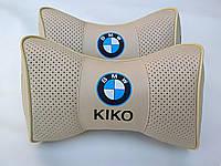 Подушка на подголовник логотип BMW KIKO