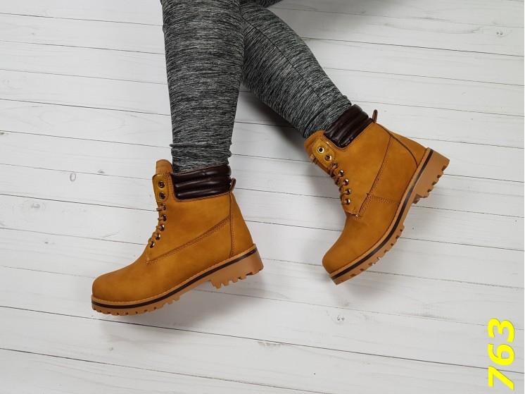 Ботинки тимбер коричневые зима очень теплые  38, 39, 40 размер
