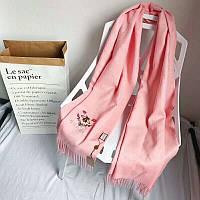 Шикарный розовый шарф в стиле Gucci