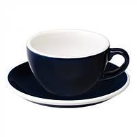 Чашка и блюдце для капучино Loveramics Egg Cappuccino Cup & Saucer Denim (200 мл)