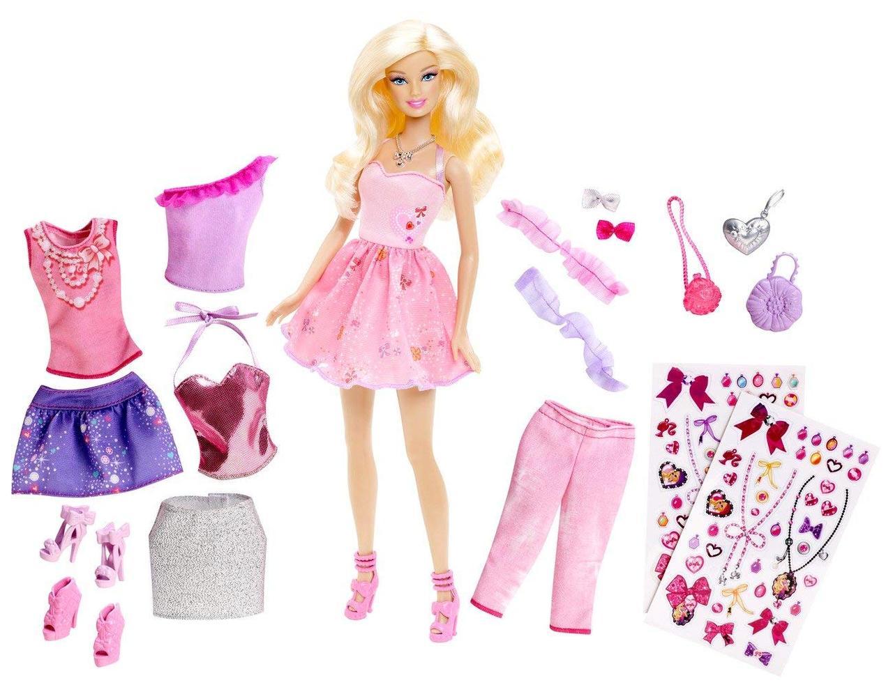 """Ігровий набір """"Барбі"""" модниця з набором одягу / Barbie Glitter Coordinates! Fashion Set"""