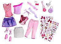 """Ігровий набір """"Барбі"""" модниця з набором одягу / Barbie Glitter Coordinates! Fashion Set, фото 2"""