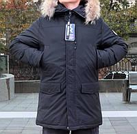 Мужская зимняя куртка больших размеров Remain черная