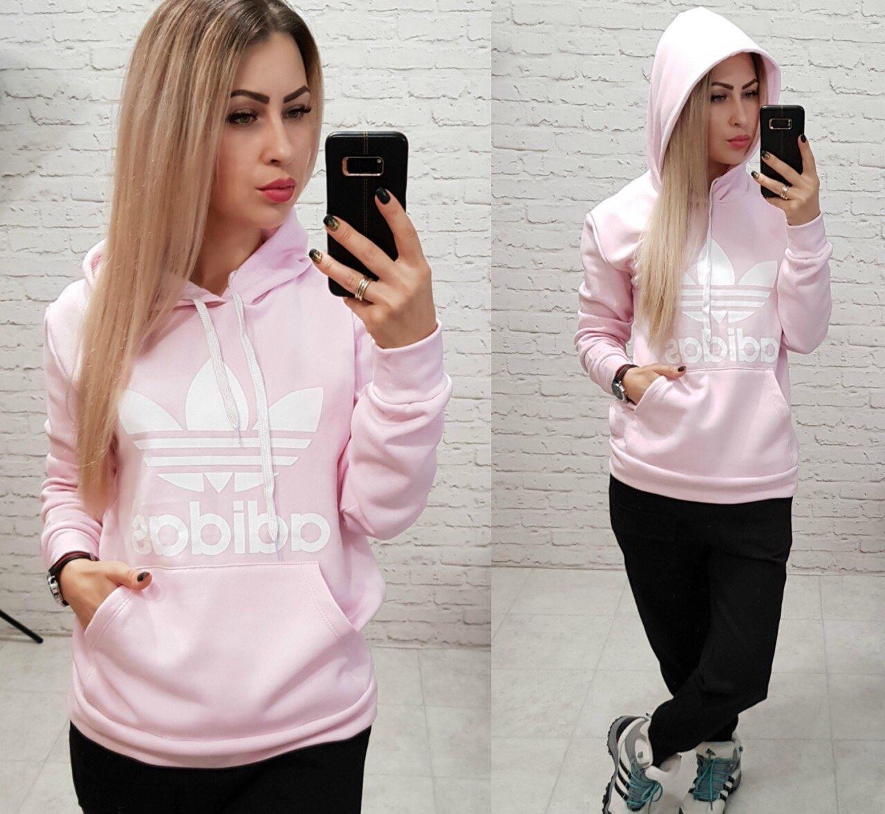 4220b7ee Толстовка на флисе c капюшоном женская Adidas: продажа, цена в ...