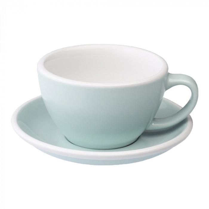 Чашка и блюдце для капучино Loveramics Egg Cappuccino Cup & Saucer River Blue (200 мл)