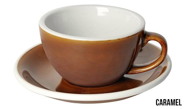 Чашка и блюдце для капучино Loveramics Egg Cappuccino Cup & Saucer Сaramel (200 мл)