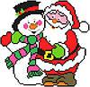 """Набор для вышивки крестиком """"Дед Мороз и Снеговик"""""""