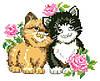 """Набор для вышивки крестиком """"Влюбленные котики"""""""