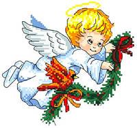 """Набор для вышивки крестиком """"Ангелок"""""""