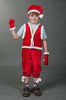 Карнавальный костюм Гномик красный, костюм Гнома, Санта Клауса, Дед мороз для детей, Гном