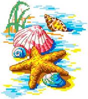 """Набор для вышивки крестиком """"Ракушки в песке"""""""