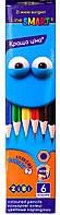 Карандаши Цветные 6 шт цветов Набор цветных карандашей, SMART ZB.2423, 009012