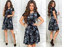 Женское бархатное платье с пайетками, фото 1