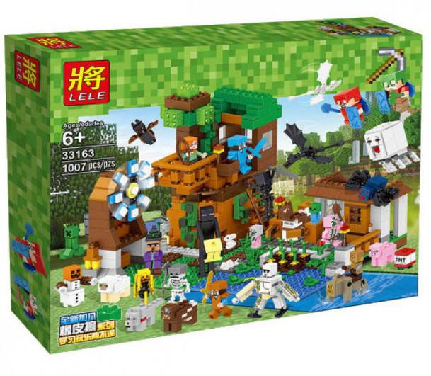 """Конструктор Lele 33163 Майнкрафт """"Загородный дом + набор героев майнкрафт"""" 1007 дет."""