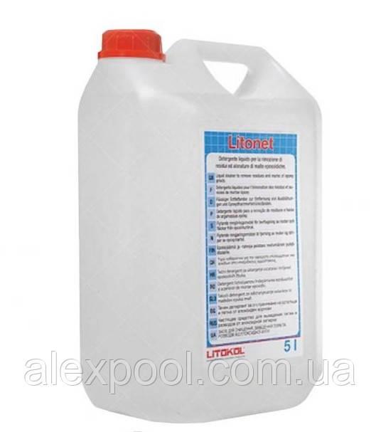 Litokol LITONET 5 л - очиститель от эпоксидных затирок для любых типов керамических покрытий ( LNET2V0045 )