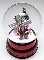Новогодний Сувенир Музыкальный Снежный Шар на Подставке 28/25, фото 1
