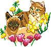 """Набор для вышивки крестиком """"Котики"""""""