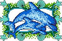 """Набор для вышивки крестиком """"Дельфины"""""""