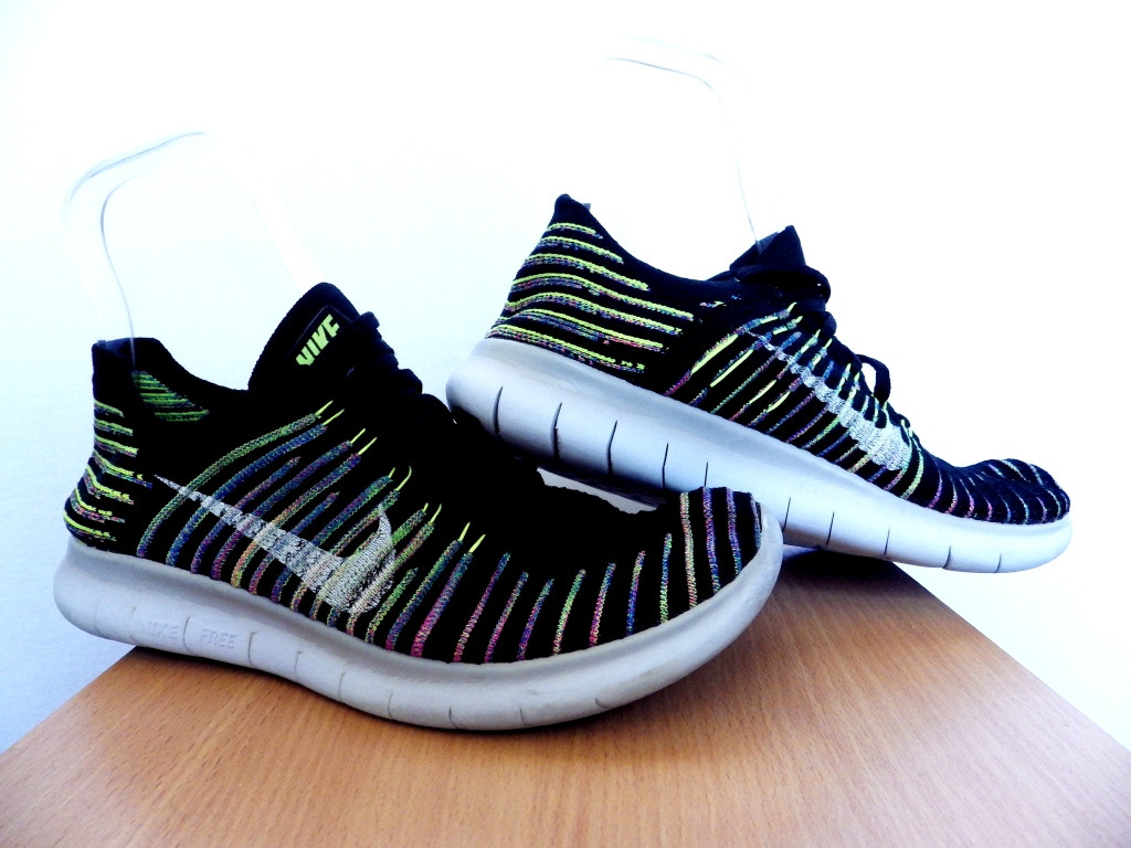 Кроссовки Nike Free RN Flyknit Multicolor Stripes100% ОРИГИНАЛ р-р 40,5 (25,5 см) (Б/У, СТОК) original лёгкие