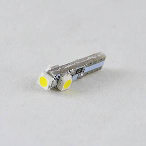 Светодиодная лампа в подсветку с цоколем T5(W2x4,6d)(W1.2W) 3-3528 12V 6000K, фото 2