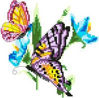 """Набор для вышивки крестиком """"Бабочки в цветах"""""""