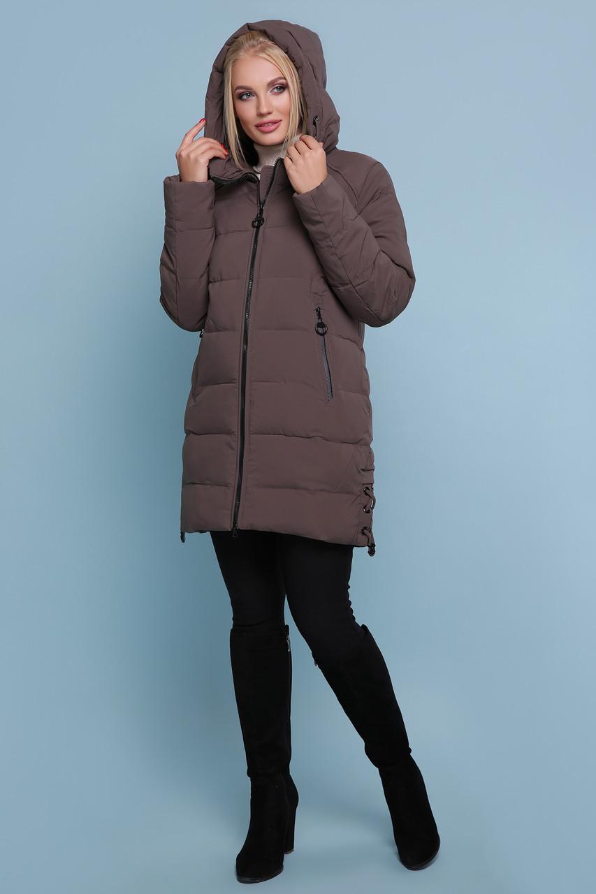 Куртка зимняя женская ниже бедра размеры48,50,52,54,56