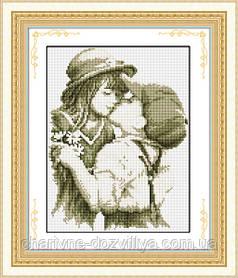 """Набор алмазной вышивки (рисования камнями) """"Первый поцелуй"""""""