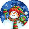 """Набор для вышивки крестиком """"Веселый снеговик"""""""