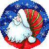 """Набор для вышивки крестиком """"Санта"""""""