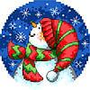 """Набор для вышивки крестиком """"Снеговик"""""""