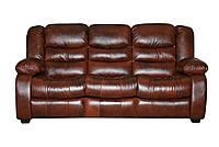 Кожаный диван Manhattan, нераскладной диван, мягкий диван, мебель из кожи