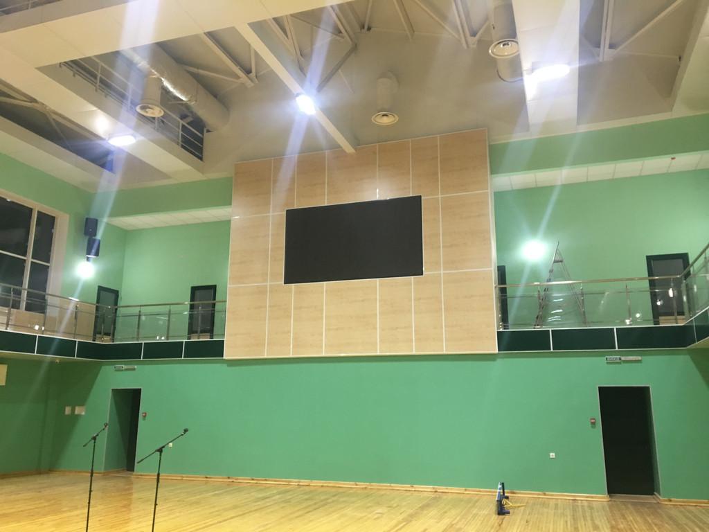 Звуковое оборудование для дворца спорта