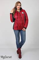 Демисезонная куртка для беременных Юла Mama Lemma арт. OW-17.011 ягодная+черный