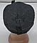 Мужская шапка зимняя с кнопкой, флис м 6126, разные цвета, фото 3