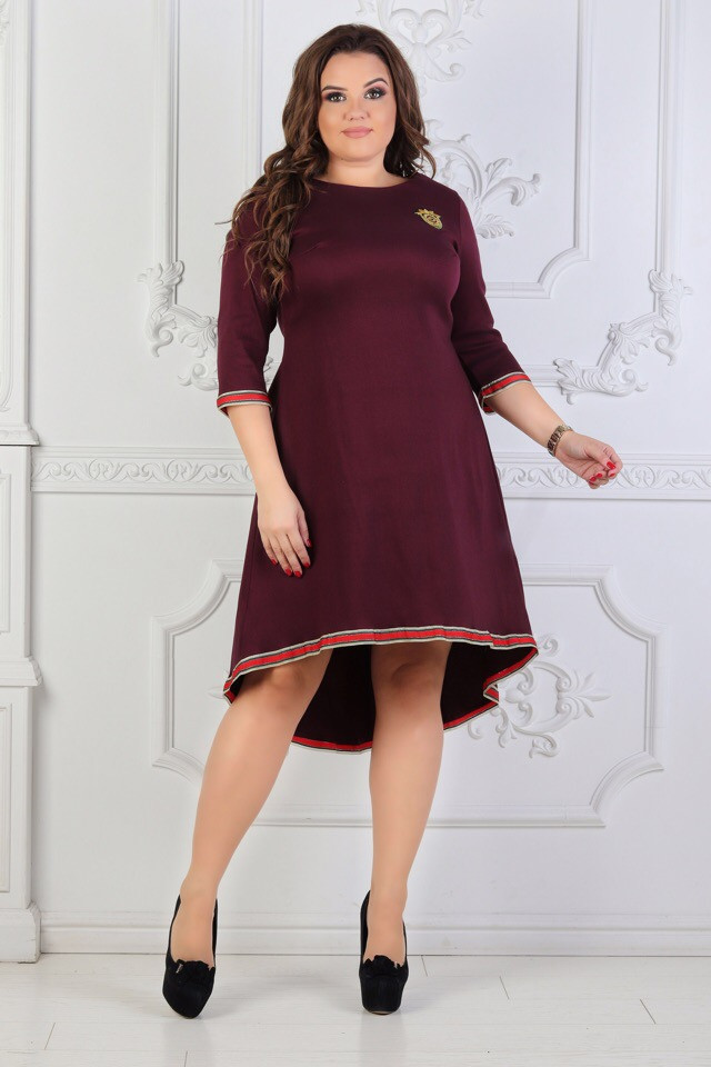 Женское платье приталенное рукав три четверти 48, 50, 52, 54, 56, 58, 60