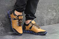 Мужские ботинки Columbia кожаные рыжие спорт (Реплика ААА+), фото 1