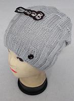 Шапка вязаная женская зимняя, утеплитель флис м 6143, разные цвета, фото 1